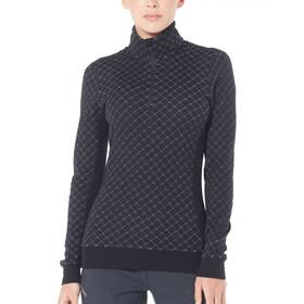 Icebreaker Affinity Thermo LS Half Zip Shirt Dam black
